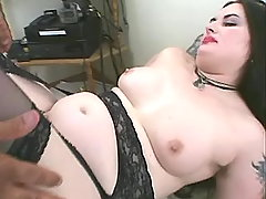Fatty with big tits fucking w dude