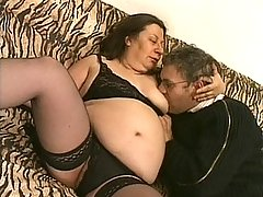 Banging the horny brunette bitche doggie style