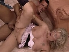 Old mom sucks cock n fucks on floor