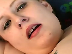Depraved chubby angel shows off