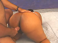 Ebony Chubby vixen enjoys hard sex