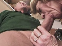 Granny does blowjob n has hot fuck