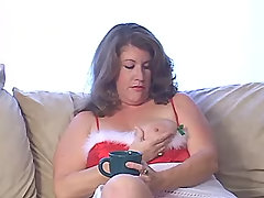 Breasty plump vixen blows hard dick