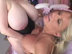 Chubby sluts dildofuck each other