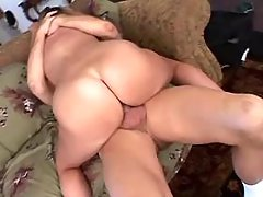 Black fatty with big ass sucks cock and licked