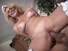 Mature has oral and jumps on cock