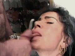 Mom fucks in all holes n gets cum