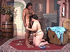 Sexy brunette babe gets reamed and creamed