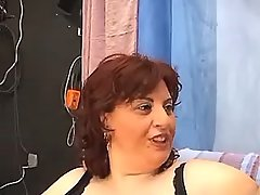 Mature breasty fat mom does blowjob