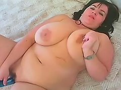 Nourished mommy plays with vibrator