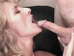 Mature has oral n jumps on big cock