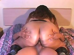 Lustful bbw with huge bouncing tits