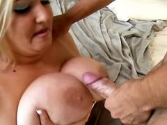 BBW fucks and gets cumload on boobs